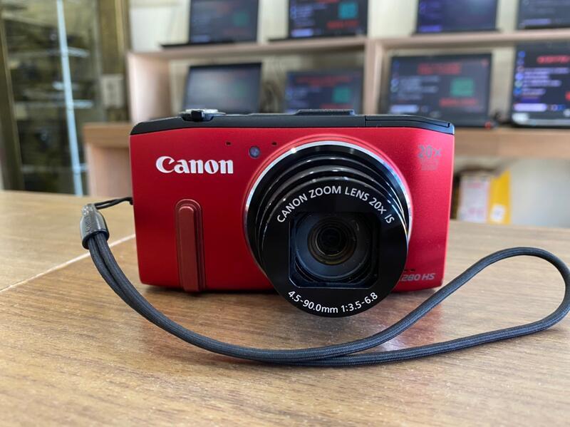 酒紅色中古數位相機 CANON SX280HS 千萬畫數  內建GPS定位+WIFI  附全新充電器 功能全部正常