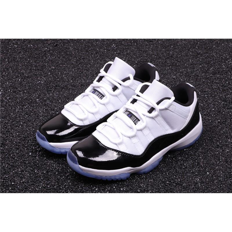 Air Jordan 11 Low Concord高版真碳 AJ11喬丹低筒籃球鞋 男鞋 經典黑白 528895 153