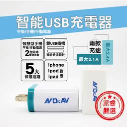 保固+公司貨+台灣設計【聖岡科技 2.1A智能USB充電器】手機充電器 五大保護 充電器 USB-504【LD079】