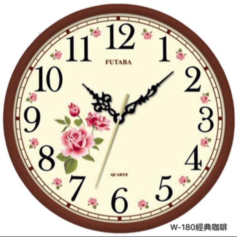 《台灣製造 品質保證》10吋高級古典雅緻掛鐘/時鐘/圓形時鐘/跳秒機芯低噪音/時尚簡約/花卉掛鐘【LD304】