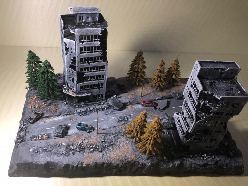 [熊貓] 預購  1/100 戰損建築 有兩種款式