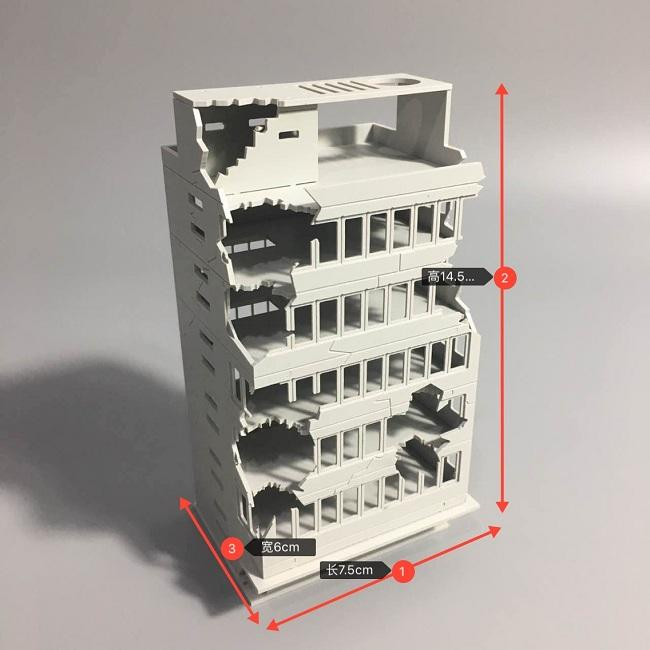 [熊貓] 預購  1/144 戰損建築  編號:TB   模型 戰爭 場景用