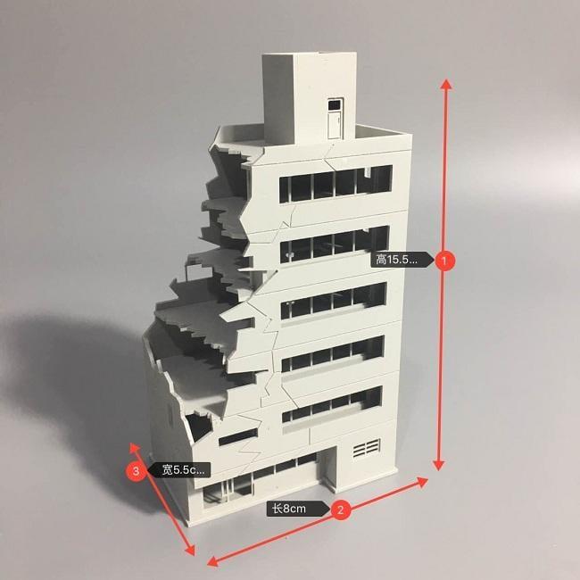 [熊貓] 預購  1/144 戰損建築  編號:TC   模型 戰爭 場景用