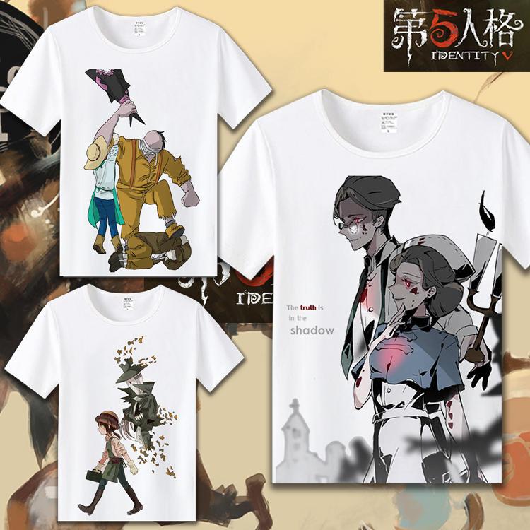 第五人格游戲周邊T恤 杰克園丁魔術機械師動漫學生休閑短袖衣服