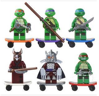 博樂兒童爆款益智時尚拼裝積木玩具 禮物神龜系列人仔積木10200-10205