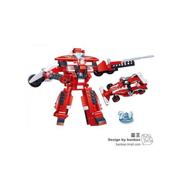 邦寶益智玩具創意積木百變金剛機器人蠻王6305小顆粒單品