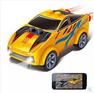 益智邦寶時尚拼裝積木益智兒童爆款盒裝賽車玩具 迷你回力車8626-8629