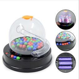 喜得玩具 帶燈光電動搖獎機 50118 電動數字搖獎機 搖碼機 搖獎機 電動幸運搖搖大樂透雙色球搖獎機 選號器