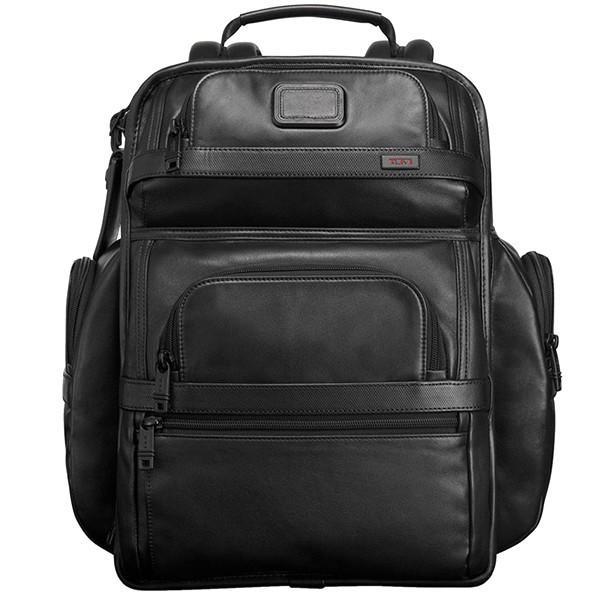 正品新款原廠 TUMI/途米 代購 JK093 男女款納帕牛皮商務休閒雙肩包全真皮超大容量時尚旅行電腦後背包