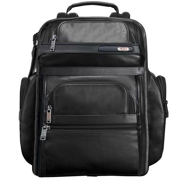 正品新款原廠 TUMI/途米 代購 JK024 男女款納帕牛皮真皮商務旅行雙肩包超大容量獨立筆記型電腦包時尚後背包