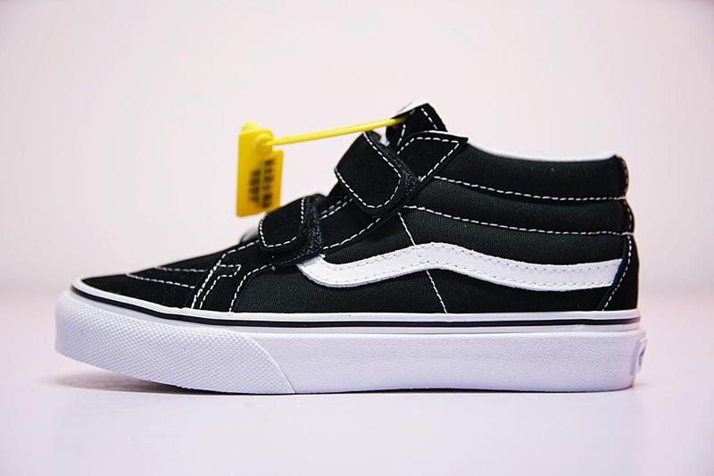 Vans Kids SK8 Mid Reissue V 童鞋 黑白 魔術貼 高筒 戶外 大童 休閒鞋