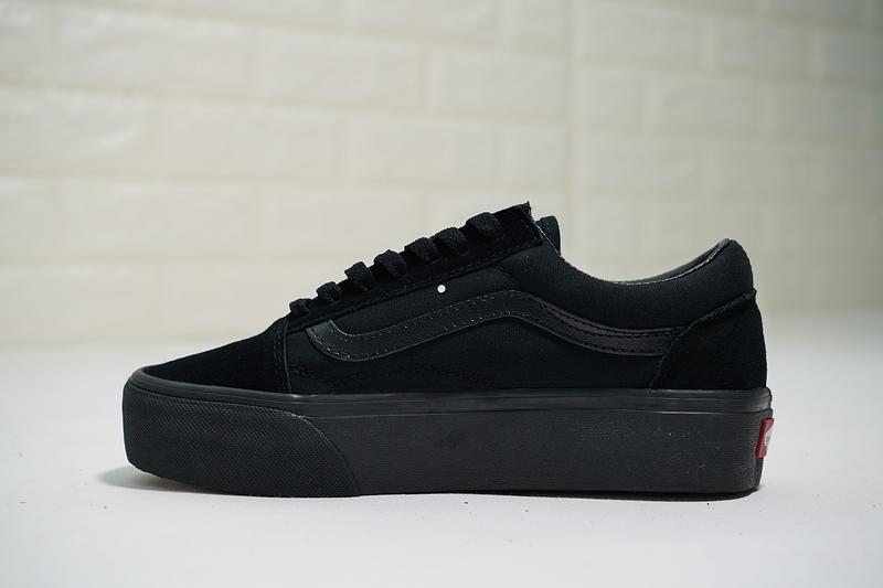 Vans Old Skool Platform 女鞋 全黑 厚底 百搭 帆布鞋 休閒鞋