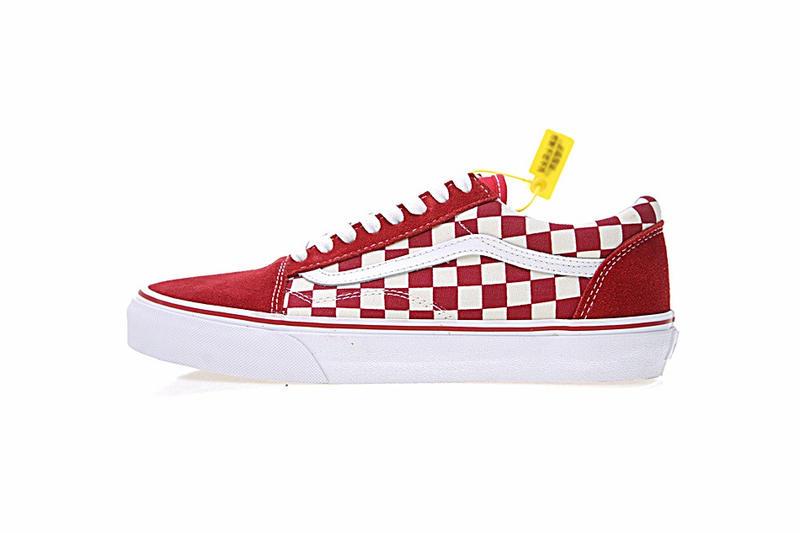 Vans Old Skool Primary Check 男女鞋 紅白 棋盤格子 舒適 低筒 休閒鞋