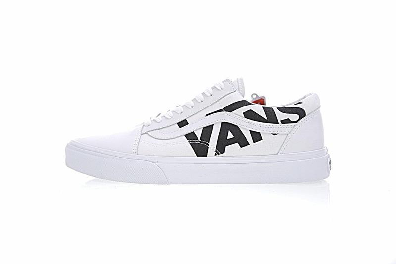 Vans Old Skool 男女鞋 皮革 帆布 白黑LOGO 經典 低筒 休閒鞋