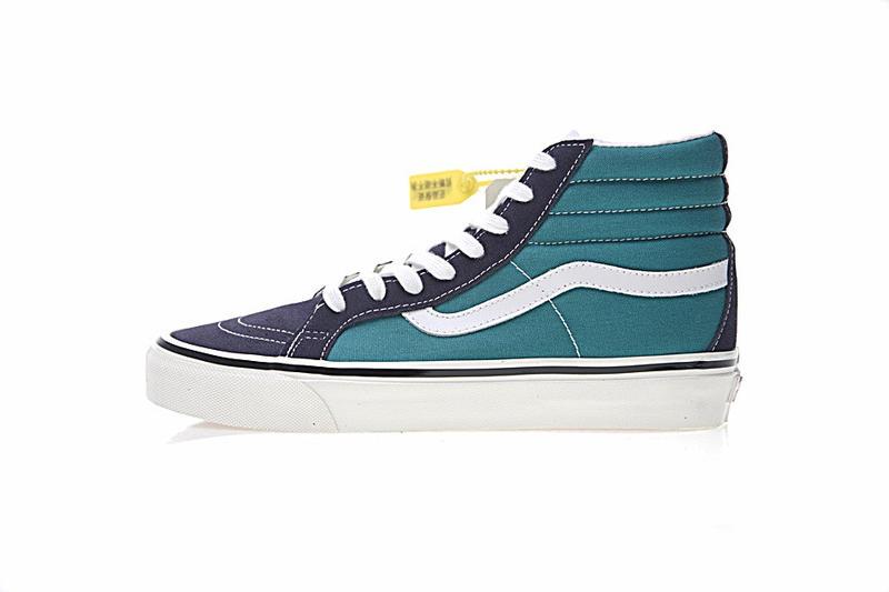 Vans SK8 Hi 38 DX 男女鞋 藍綠 經典 舒適 高筒 休閒鞋