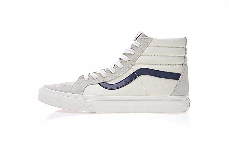 Vans Sk8-Hi 復古 男女鞋 白深藍 舒適 百搭 高筒 休閒鞋 VN0A3DZ3KE6