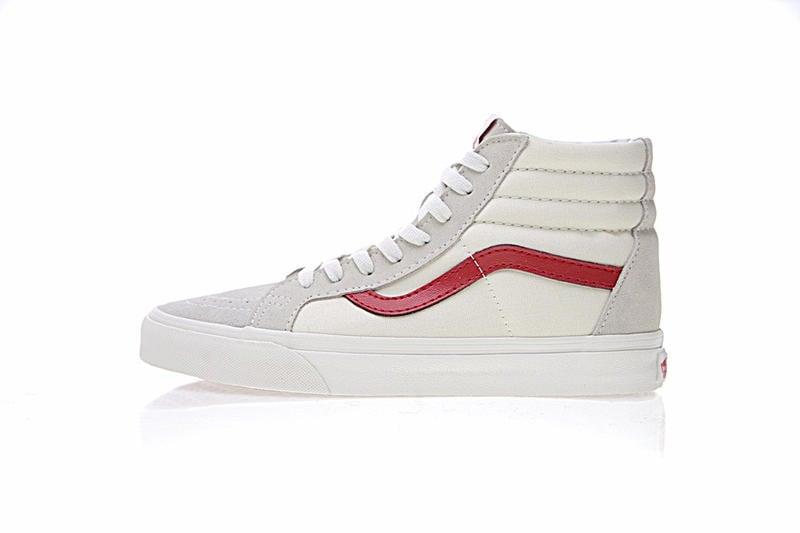 Vans Sk8-Hi 復古 男女鞋 米白紅 舒適 百搭 高筒 休閒鞋 VN0A3DZ3OXS