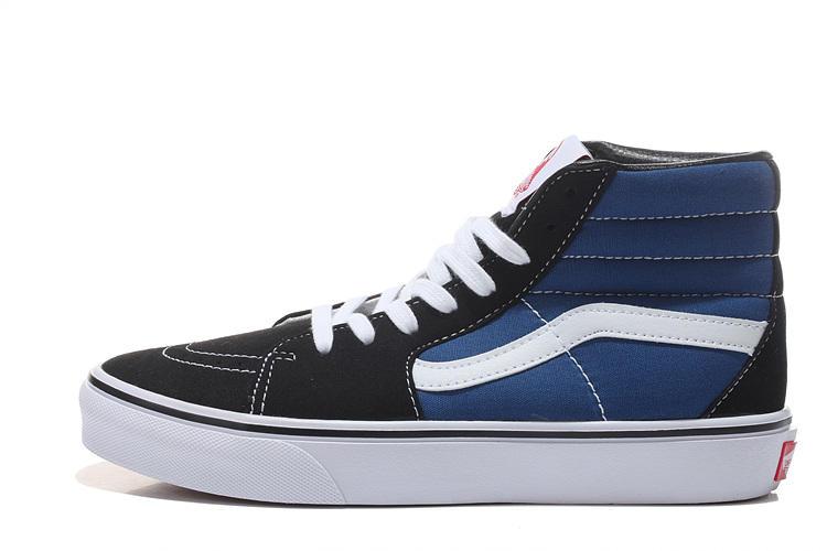 Vans SK8-HI 男女鞋 藍白 經典款 百搭 麂皮 帆布 休閒鞋