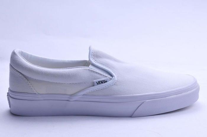 Vans Slip On 男女鞋 白經典 百搭 潮流 懶人鞋 套腳 休閒鞋