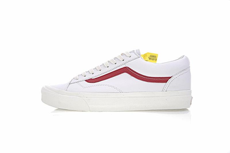 Vans Vault OG Style 36 LX Premium Leather 男女鞋 白紅 皮革 舒適 休閒鞋