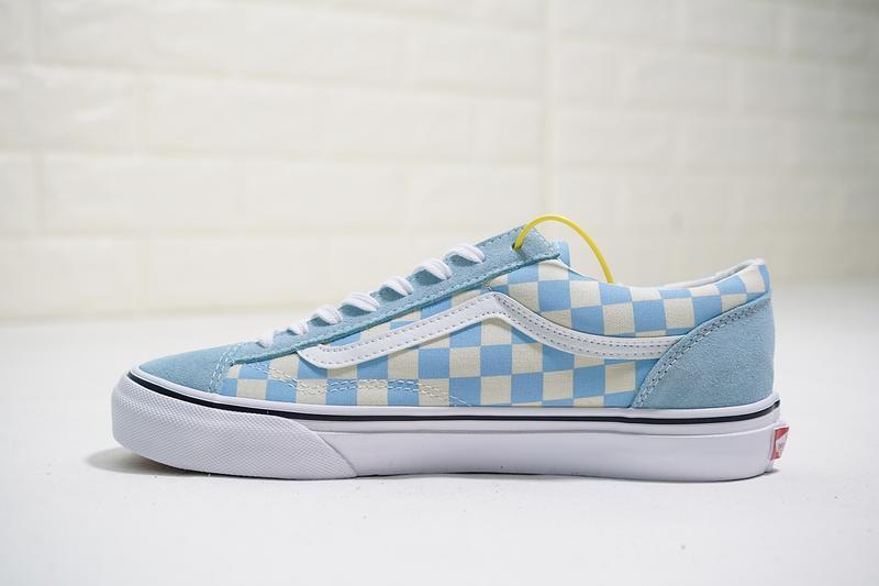 Vans Vault OG style 36 男女鞋 玉藍 棋盤格子 舒適 復古 低筒 休閒鞋 VN0A3TWLRJJ