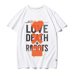 【思思小鋪】網飛Netflix美劇愛死亡和機器周邊印花純棉圓領短袖半袖T恤男女