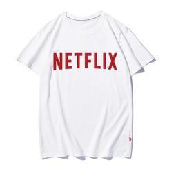 【思思小鋪】美國網劇美劇網飛Netflix周邊印花純棉圓領短袖半袖T恤體恤男女