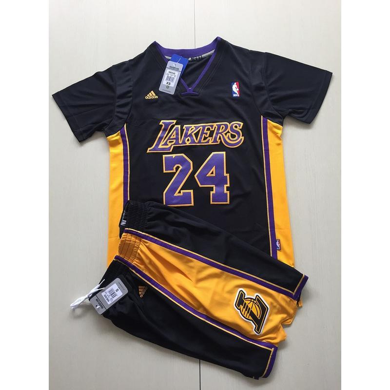 實拍特價?NBA球衣 寇比 短袖上衣 短袖套裝 黑色 好萊塢 籃球服 兒童 短袖 KOBE KB球衣 短袖T恤