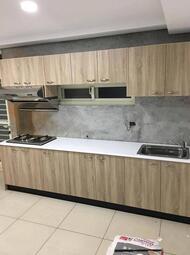 名雅歐化廚具300公分美耐檯面+上櫃F1木心桶身+下櫃F1木心桶身+四面封美耐門板