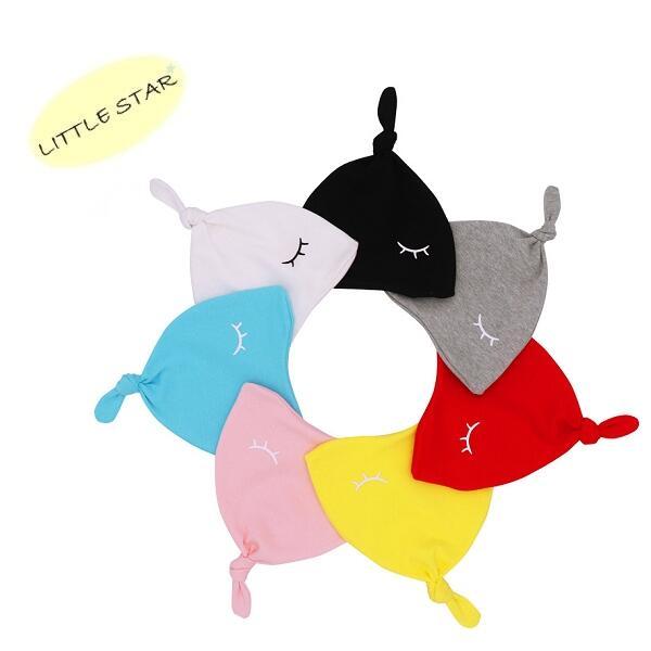 LITTLE STAR 小新星【嬰兒瞇眼睛套頭帽】全棉嬰兒睡眼睡帽/嬰兒帽/秋冬帽