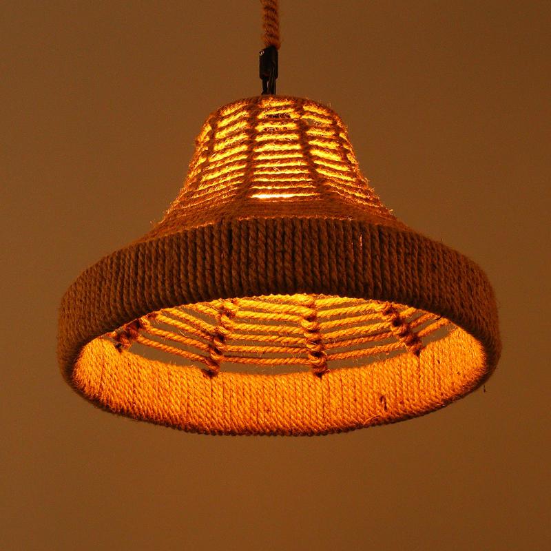 懷舊復古咖啡廳吊燈餐廳麻繩吊燈吧檯燈網吧吊燈北歐工業過道吊燈