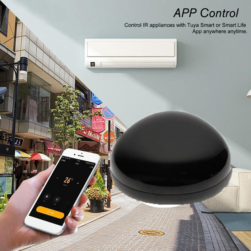 冷氣變智能了!APP手機語音紅外線萬用遙控器【Tuya涂鴉版】遠端遙控家電 媲美BroadLink RM4C黑豆