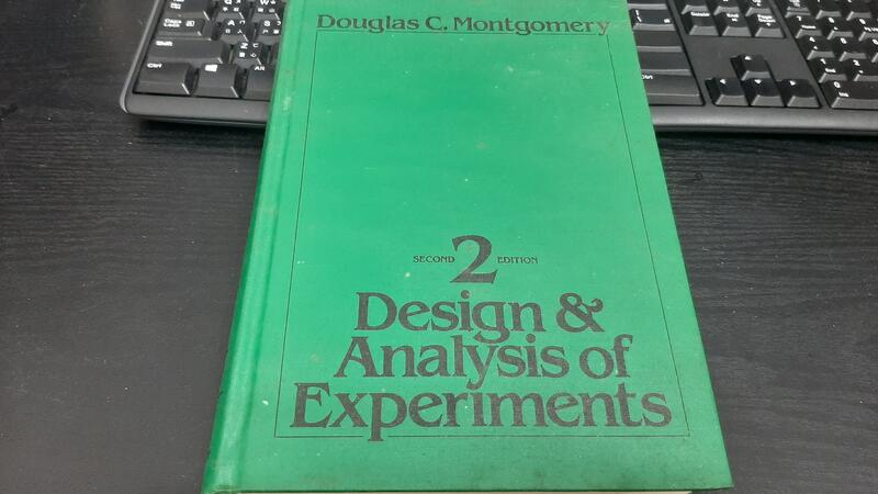 小紅帽書店◆實驗設計與分析 二版 Design and Analysis of Experiments 2/E無筆記T6