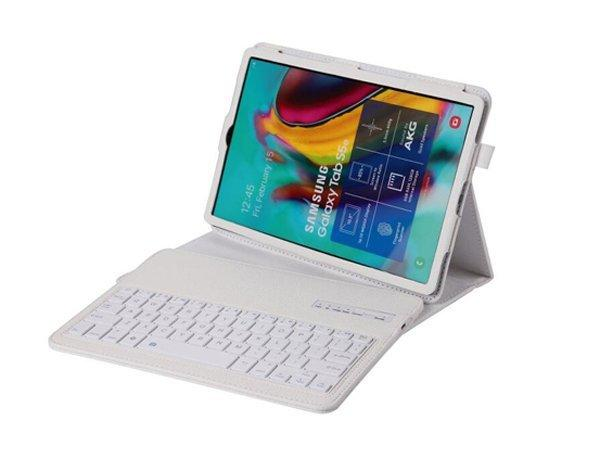 全新三星Tab S6 lite 10.4吋藍牙鍵盤皮套P610 P615可拆分式藍牙鍵盤荔枝紋平板保護皮套(送註音貼紙)