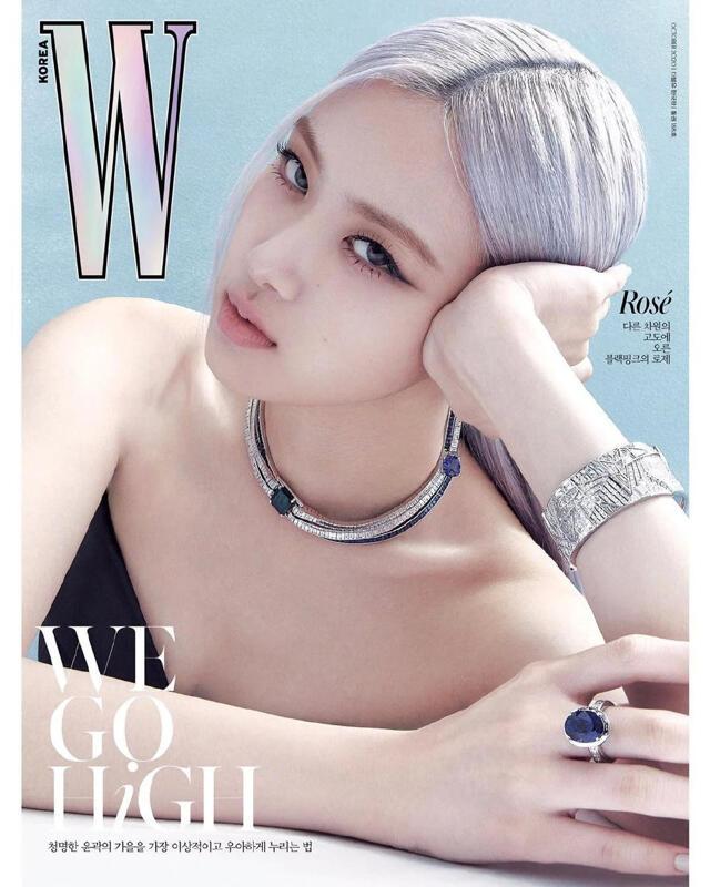 W korea 2020.10月 韓文雜誌  封面 Blackpink Rose Taeyeon  少女時代 太妍