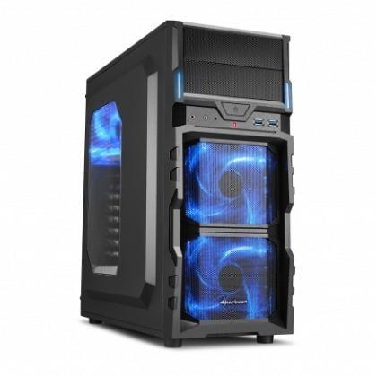 【太極數位】視博通 Sharkoon 德國旋剛 VG5-W 勁風者 藍/紅 電腦機殼