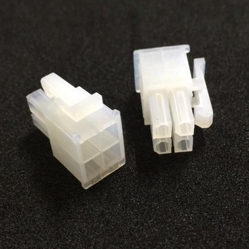 【佑齊企業 iCmore】5557系列 4.2mm  2X2P/ 4P雙排公頭 有翅 汽車連接器-10入/包(含稅)