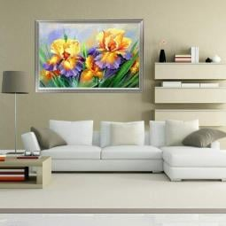 DIY Colorful Butterfly Orchid Diamond Painting Cross Stitch Kit Home Decoration