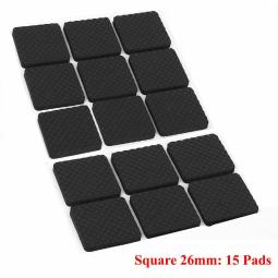 Furniture Pads Black Foam Self Adhesive for Table Legs Feet Back Floor Protector
