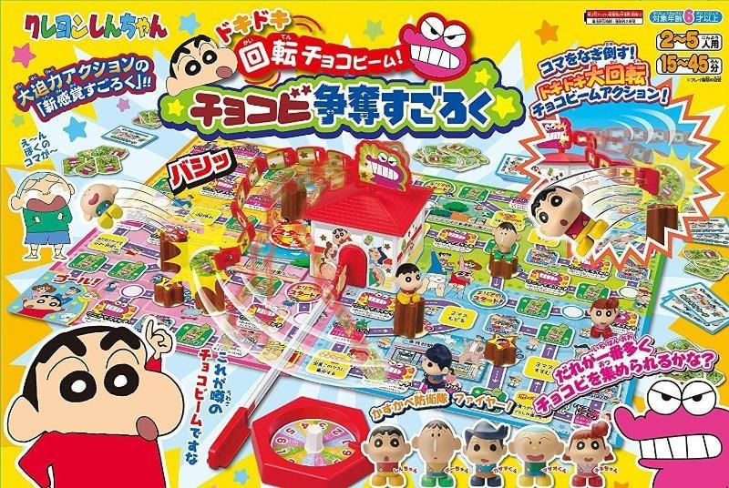 蠟筆小新 doki doki旋轉 巧克力 狹縫! competition 競賽板遊戲