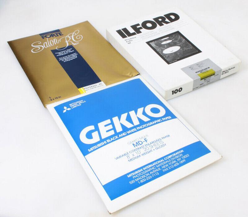 攝影darkroom紙 - 8x10 分固(5),ilford(10), gekko (20)