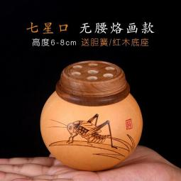 Natural gourd Handmade Exquisite insect Bottle Crafts Give base+springs gift#011