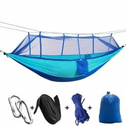 1-2 Person Portable Outdoor Camping Hammock with Mosquito Net High Strength HOT