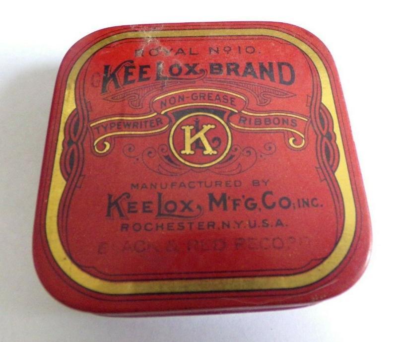 """復古keelox 品牌打字機色帶錫2.5吋 x 2.5"""" x .75""""(pc-4)"""