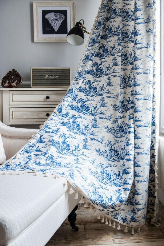 簾簾嬉皮窗簾波西米亞房間窗戶治療垂飾流蘇棉亞麻布