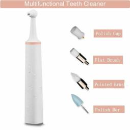 Electric Teeth Stain Polisher Tartar Cleaning Removal Eraser Tooth Whiting Tools
