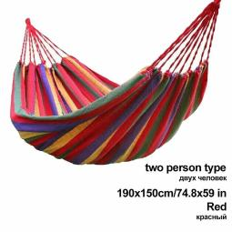 Hammock Single Double Hiking Camping Canvas Portable Garden Outdoor Hanging Bed