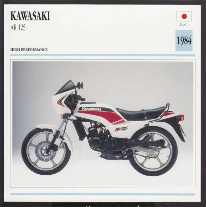 1984 川崎ar 125cc(123cc) 日本自行車摩托車照片規格 信息數據卡