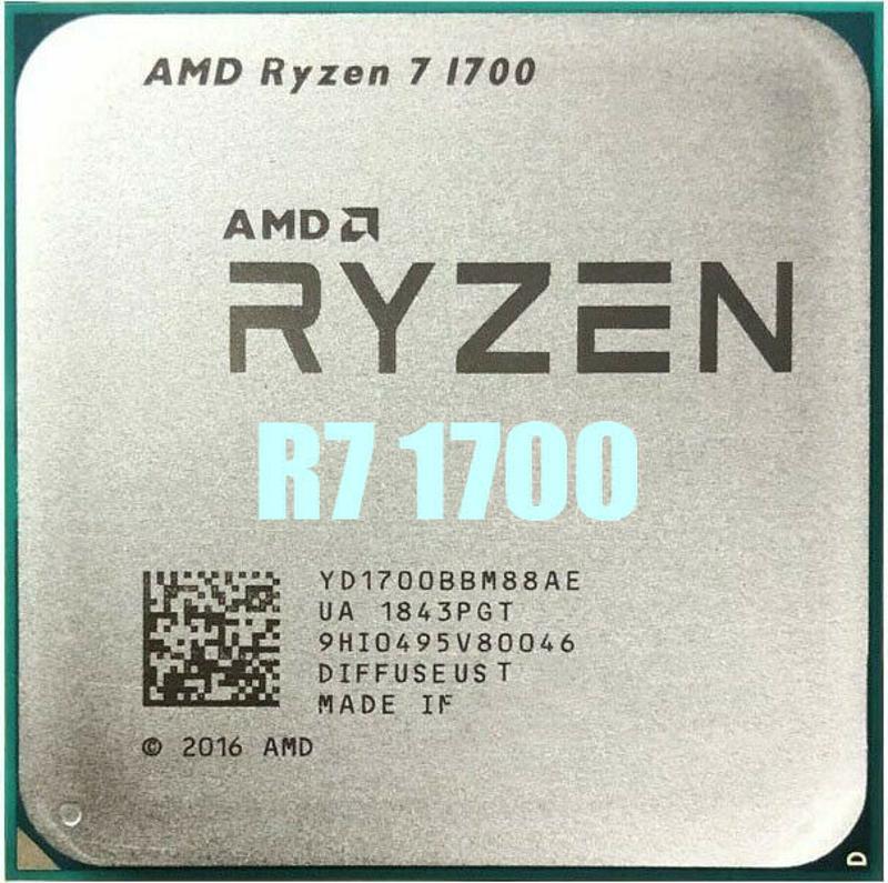 amd速龍r7 1700 cpu處理器3.0ghz 8核處理器插座am4