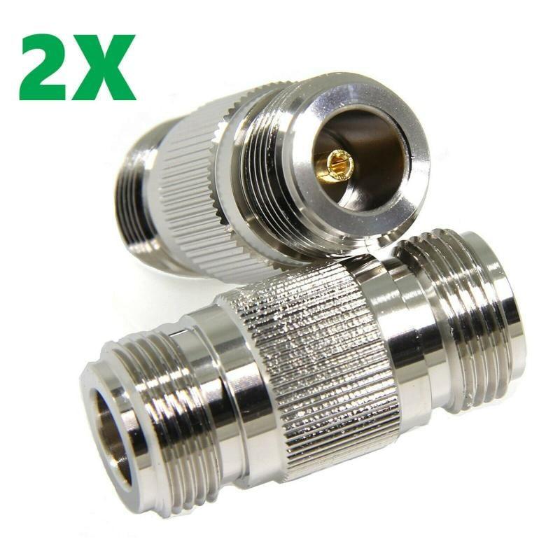 2件 n型母孔轉n母頭 rf 轉接器 筒連接器 2x 美國